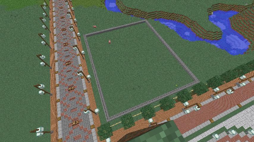 Minecrafterししゃもがマインクラフトでぷっこ村にプーニバル広場の管理小屋として旧日比谷公園事務所を再現する1