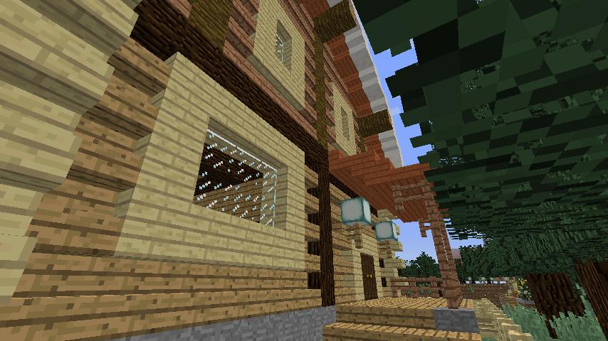 Minecrafterししゃもがマインクラフトでぷっこ村に移住者受け入れ用のログハウス7号を建築する8