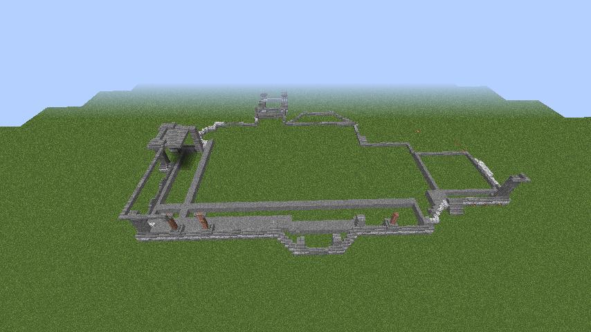 Minecrafterししゃもがマインクラフトでぷっこ村にクレイグダロック城を建築する3