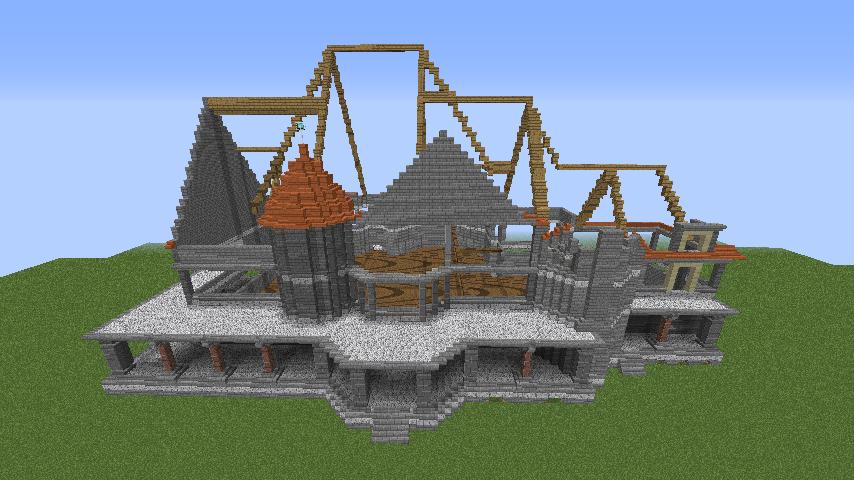 Minecrafterししゃもがマインクラフトでぷっこ村にクレイグダロック城を建築する5