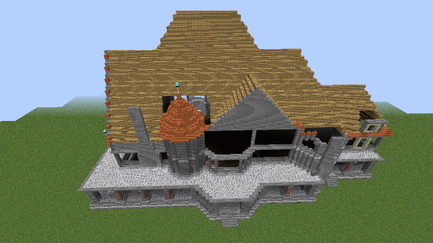 Minecrafterししゃもがマインクラフトでぷっこ村にクレイグダロック城を建築する6