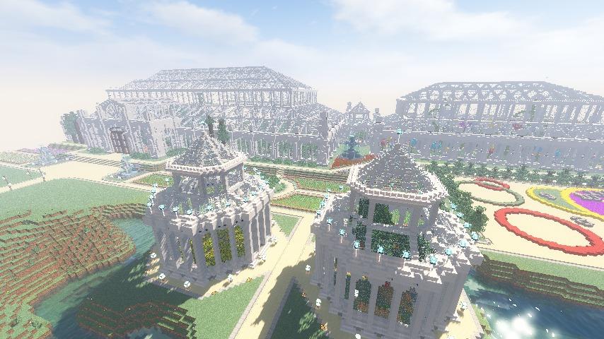Minecrafterししゃもがマインクラフトでぷっこ村に植物園をつくる6