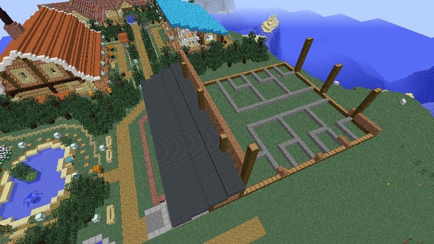 Minecrafterししゃもがマインクラフトでぷっこ村にログアパートを建築する2