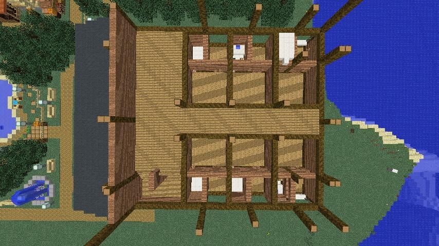 Minecrafterししゃもがマインクラフトでぷっこ村にログアパートを建築する3