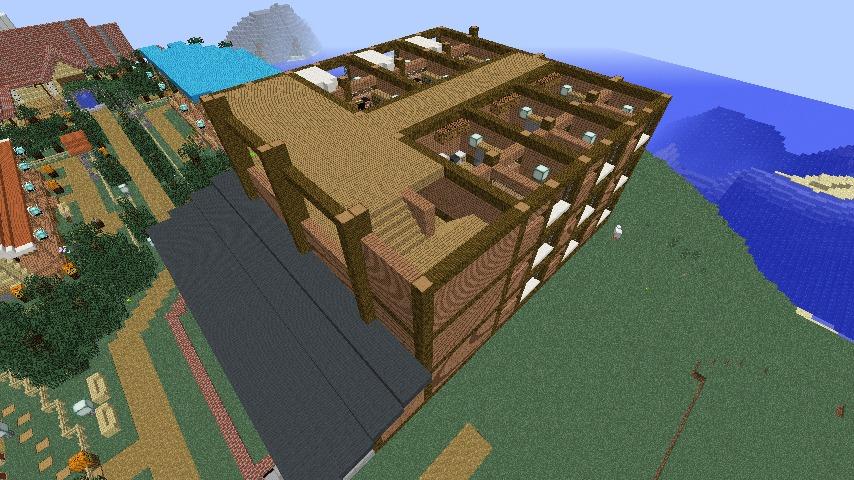 Minecrafterししゃもがマインクラフトでぷっこ村にログアパートを建築する4