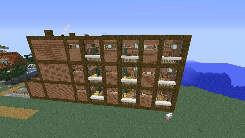 Minecrafterししゃもがマインクラフトでぷっこ村にログアパートを建築する5