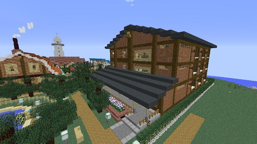 Minecrafterししゃもがマインクラフトでぷっこ村にログアパートを建築する7