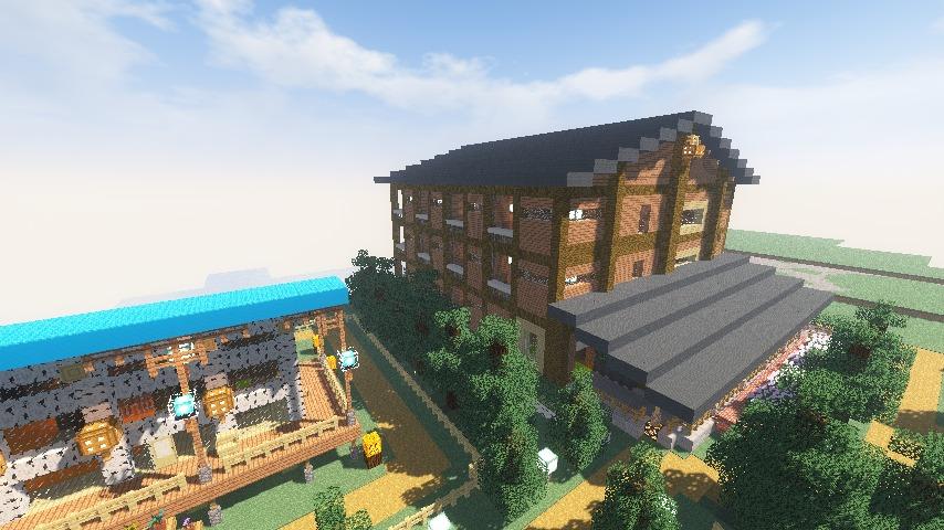 Minecrafterししゃもがマインクラフトでぷっこ村にログアパートを建築する15