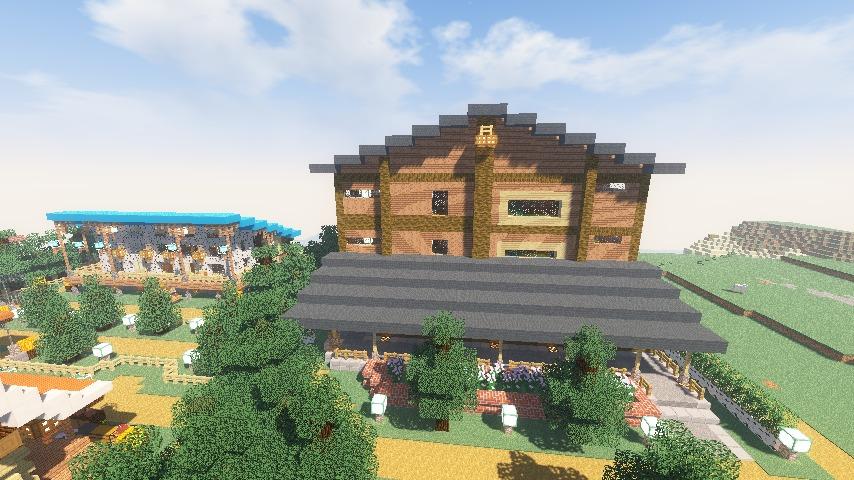 Minecrafterししゃもがマインクラフトでぷっこ村にログアパートを建築する14