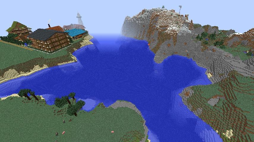 Minecrafterししゃもがマインクラフトでぷっこ村に船着き場を建設する1