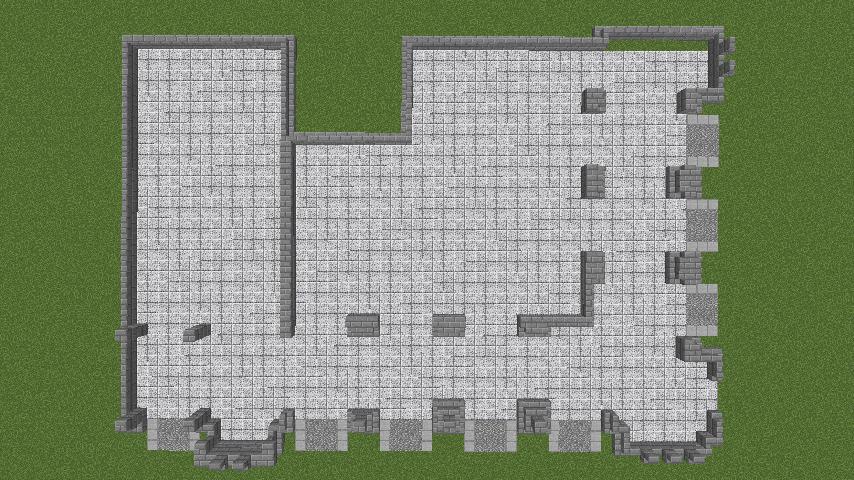 Minecrafterししゃもがマインクラフトでぷっこ村にハーバーエリア開拓の拠点として旧大阪商船を再現する4