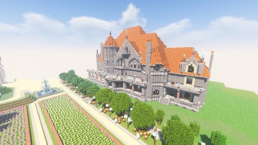 Minecrafterししゃもがマインクラフトでぷっこ村にクレイグダロック城を建築する10