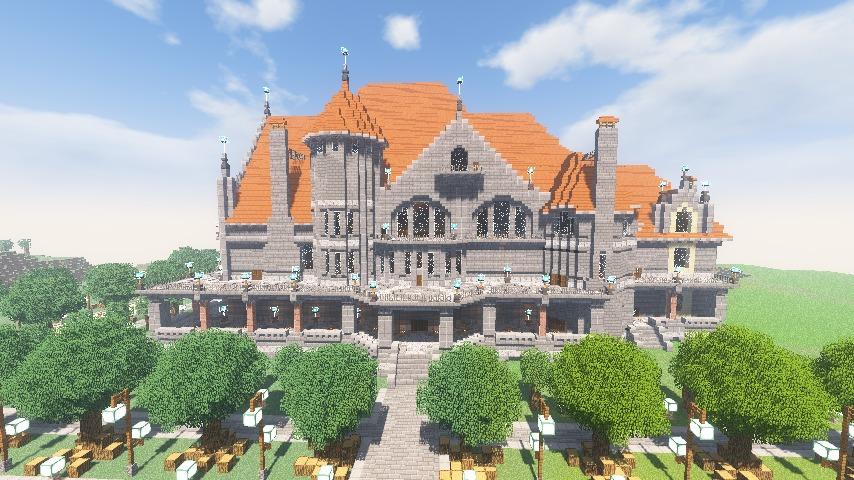 Minecrafterししゃもがマインクラフトでぷっこ村にクレイグダロック城を建築する7