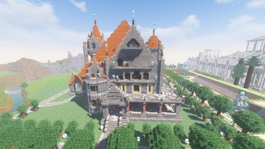 Minecrafterししゃもがマインクラフトでぷっこ村にクレイグダロック城を建築する9