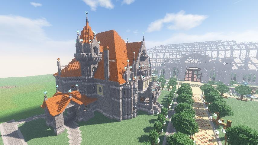 Minecrafterししゃもがマインクラフトでぷっこ村にクレイグダロック城を建築する8