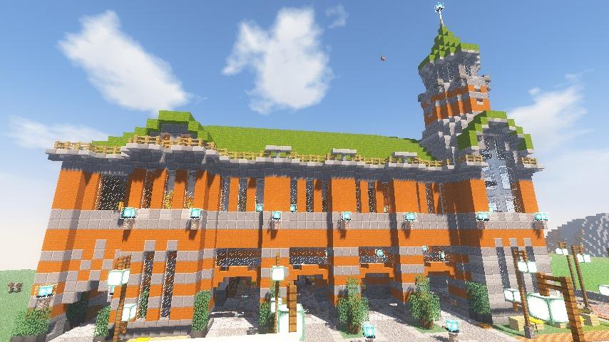 Minecrafterししゃもがマインクラフトでぷっこ村に船着き場を建設する4