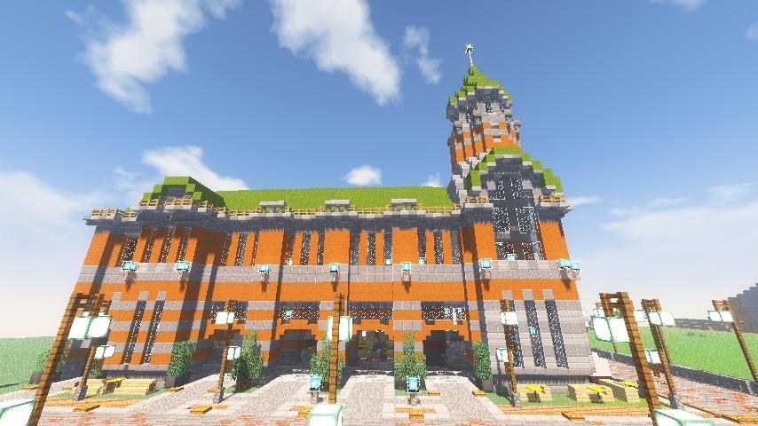 Minecrafterししゃもがマインクラフトでぷっこ村に船着き場を建設する13