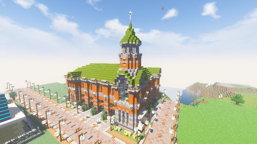 Minecrafterししゃもがマインクラフトでぷっこ村に船着き場を建設する12