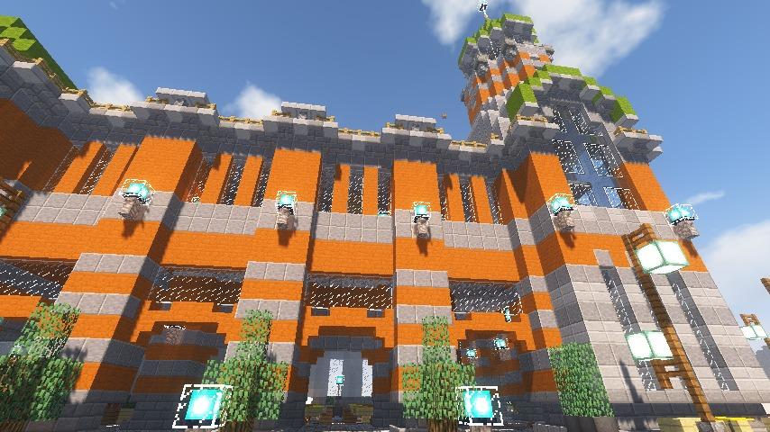 Minecrafterししゃもがマインクラフトでぷっこ村に船着き場を建設する14