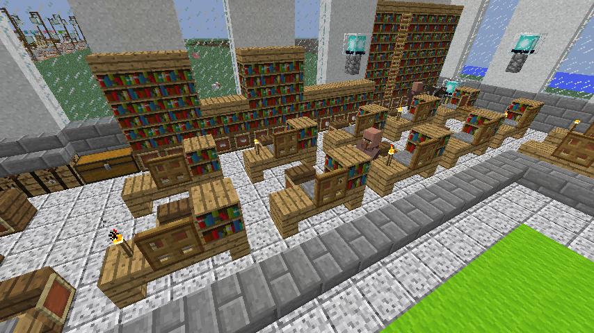 Minecrafterししゃもがマインクラフトでぷっこ村に船着き場を建設する8