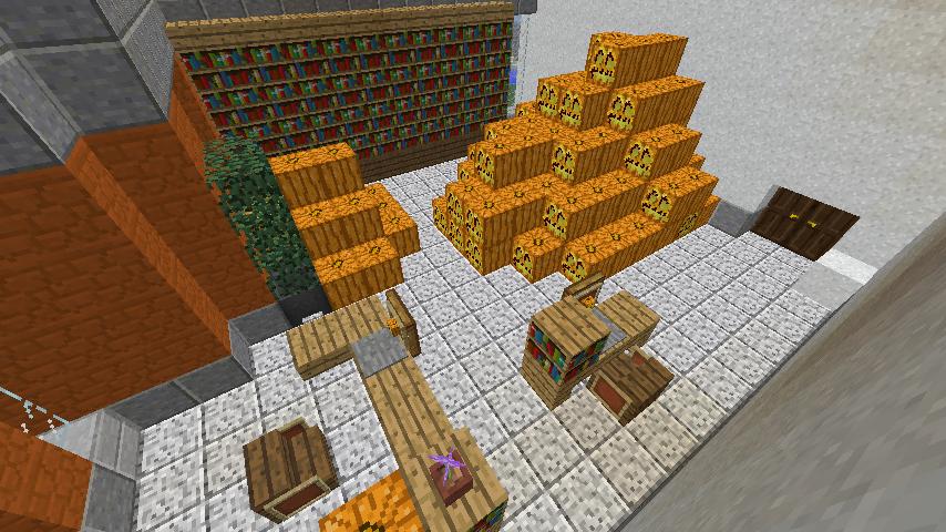 Minecrafterししゃもがマインクラフトでぷっこ村に船着き場を建設する9