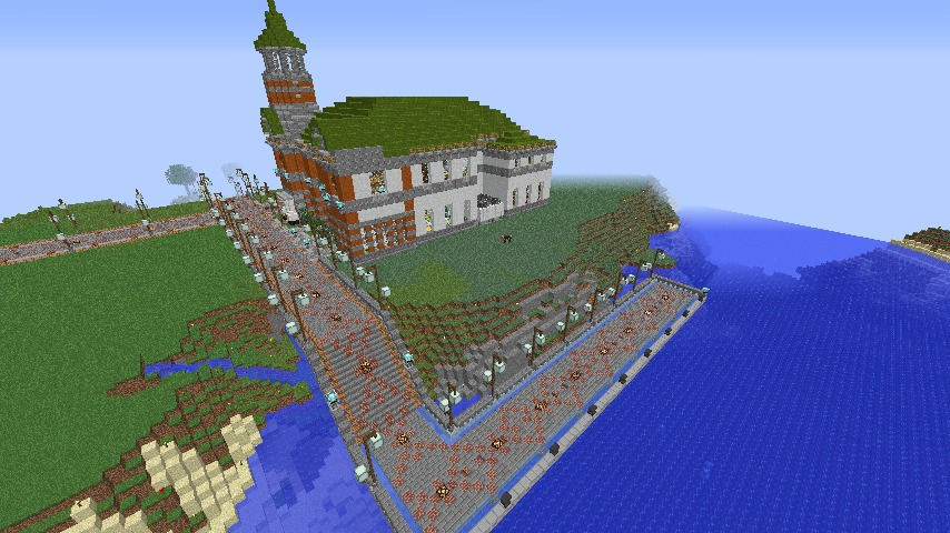 Minecrafterししゃもがマインクラフトでぷっこ村に船着き場を建設する2