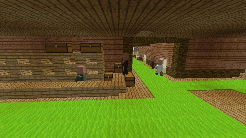 Minecrafterししゃもがマインクラフトでぷっこ村にログアパートを建築する9