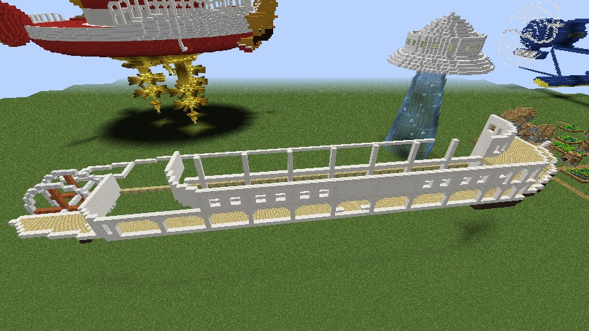 Minecrafterししゃもがマインクラフトでぷっこ村に観光用大型フェリーを造船する2