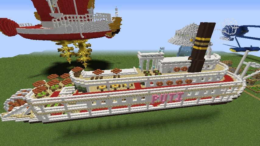 Minecrafterししゃもがマインクラフトでぷっこ村に観光用大型フェリーを造船する4