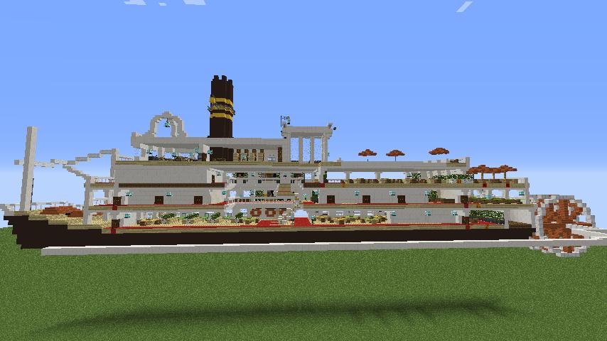 Minecrafterししゃもがマインクラフトでぷっこ村に観光用大型フェリーを造船する5