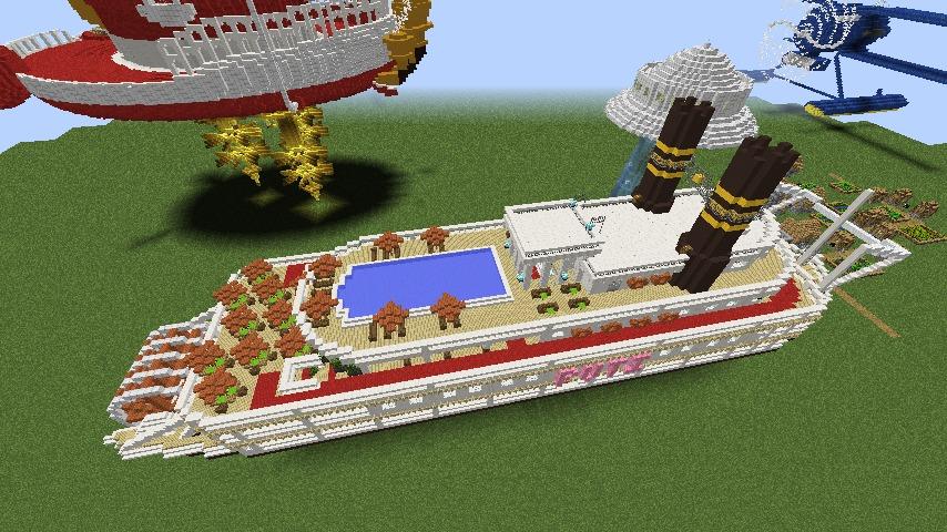 Minecrafterししゃもがマインクラフトでぷっこ村に観光用大型フェリーを造船する6