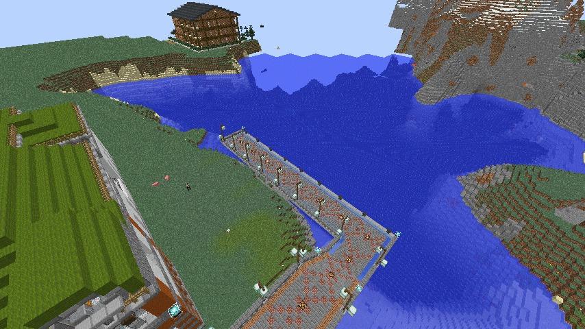 Minecrafterししゃもがマインクラフトでぷっこ村に観光用大型フェリーを造船する7