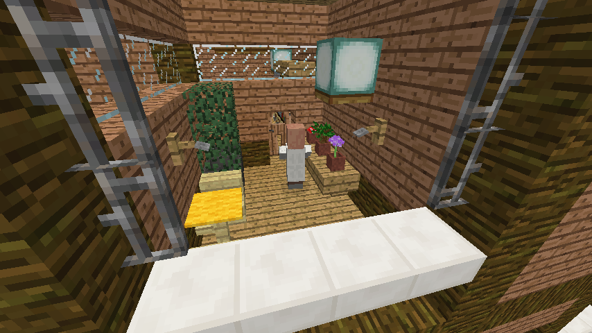 Minecrafterししゃもがマインクラフトでぷっこ村にログアパートを建築する13