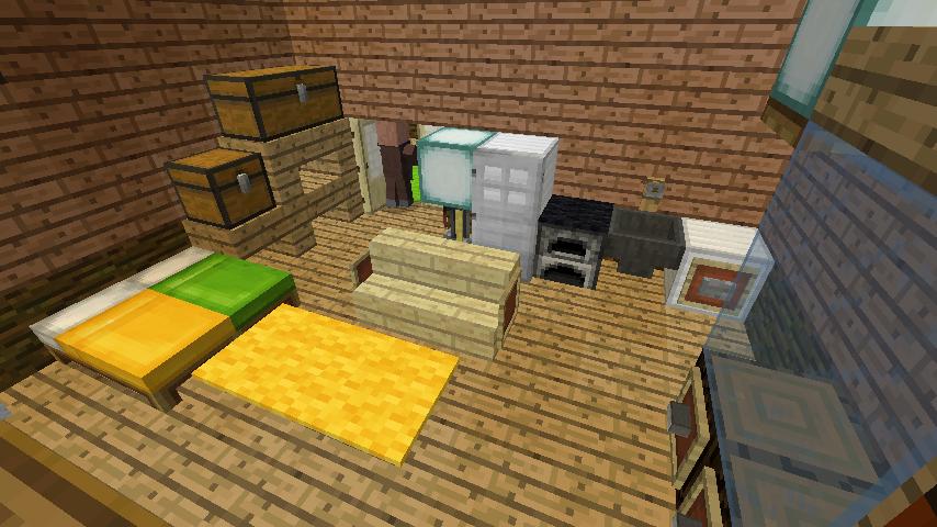 Minecrafterししゃもがマインクラフトでぷっこ村にログアパートを建築する11
