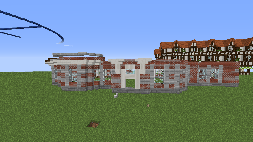 Minecrafterししゃもがマインクラフトでぷっこ村に国際友好記念図書館を再現する4