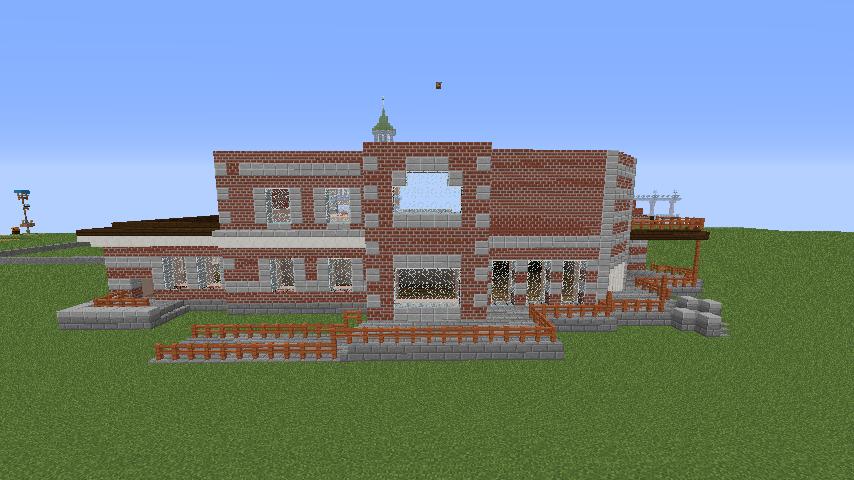 Minecrafterししゃもがマインクラフトでぷっこ村に国際友好記念図書館を再現する7