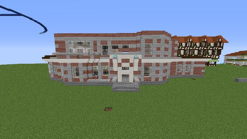 Minecrafterししゃもがマインクラフトでぷっこ村に国際友好記念図書館を再現する6