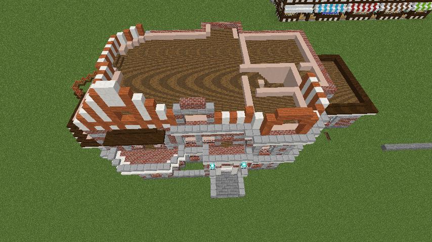 Minecrafterししゃもがマインクラフトでぷっこ村に国際友好記念図書館を再現する8
