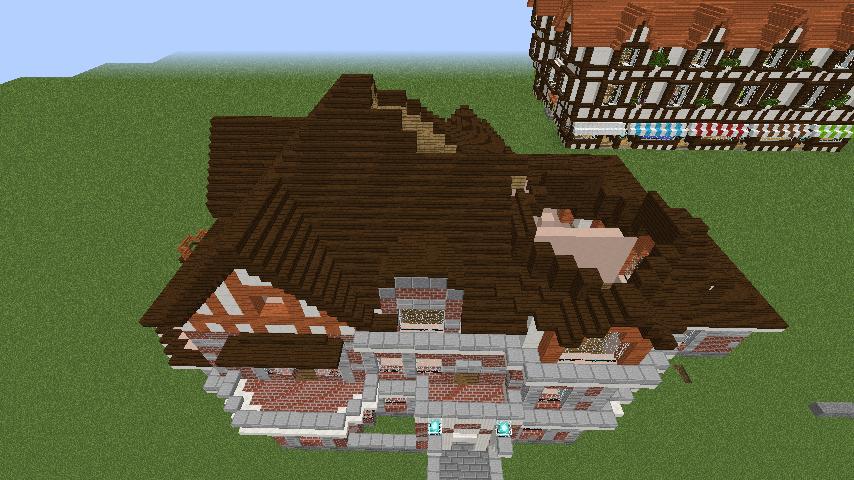 Minecrafterししゃもがマインクラフトでぷっこ村に国際友好記念図書館を再現する9