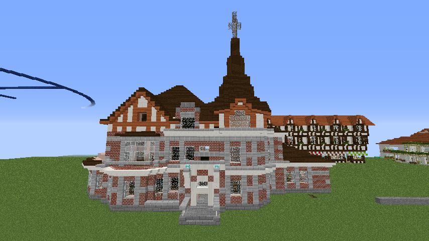 Minecrafterししゃもがマインクラフトでぷっこ村に国際友好記念図書館を再現する11