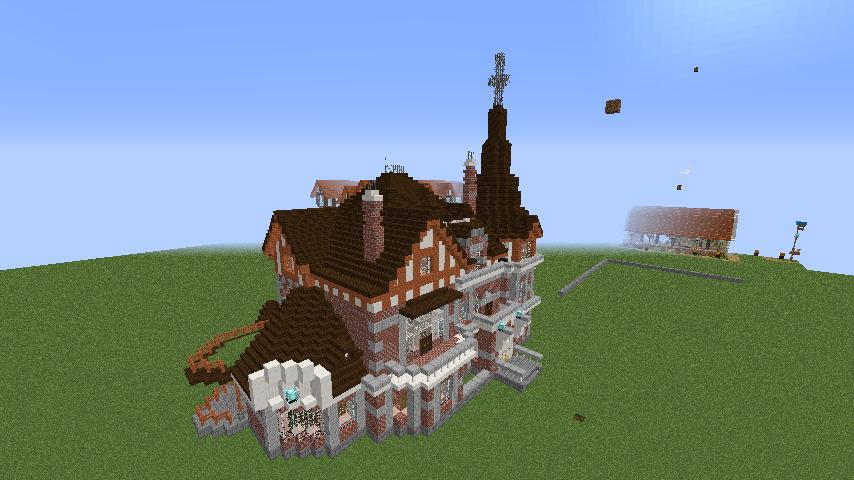 Minecrafterししゃもがマインクラフトでぷっこ村に国際友好記念図書館をモデルにした本屋を建築する1