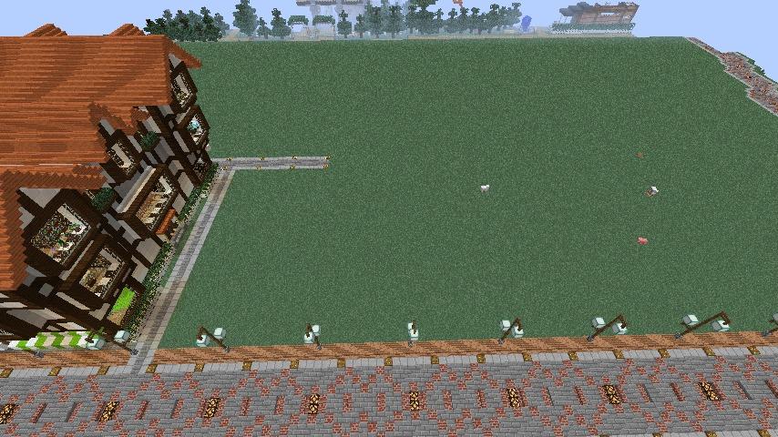 Minecrafterししゃもがマインクラフトでぷっこ村に国際友好記念図書館をモデルにした本屋を建築する4