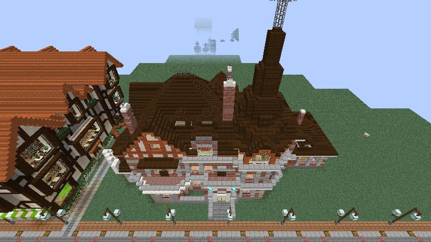 Minecrafterししゃもがマインクラフトでぷっこ村に国際友好記念図書館をモデルにした本屋を建築する5