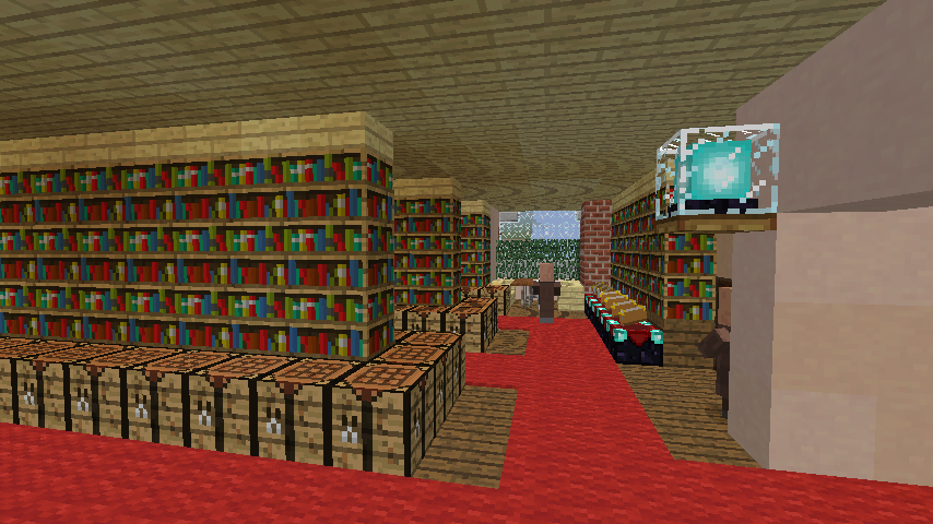 Minecrafterししゃもがマインクラフトでぷっこ村に国際友好記念図書館をモデルにした本屋を建築する10