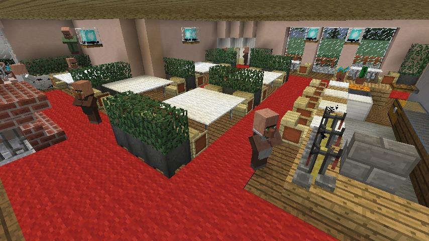 Minecrafterししゃもがマインクラフトでぷっこ村に国際友好記念図書館をモデルにした本屋を建築する9