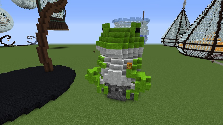 Minecrafterししゃもがマインクラフトでぷっこ村にカエルの海難救助隊を結成する6