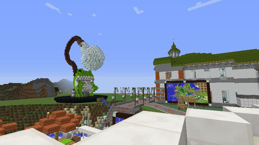 Minecrafterししゃもがマインクラフトでぷっこ村にカエルの海難救助隊を結成する9