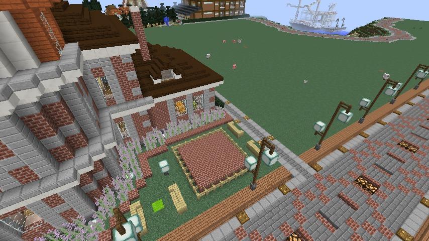 Minecrafterししゃもがマインクラフトでぷっこ村に国際友好記念図書館をモデルにした本屋を建築する8