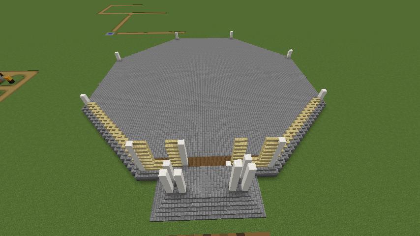 Minecrafterししゃもがマインクラフトでぷっこ村にみくに龍翔館をモデルにした村役場を建築する1