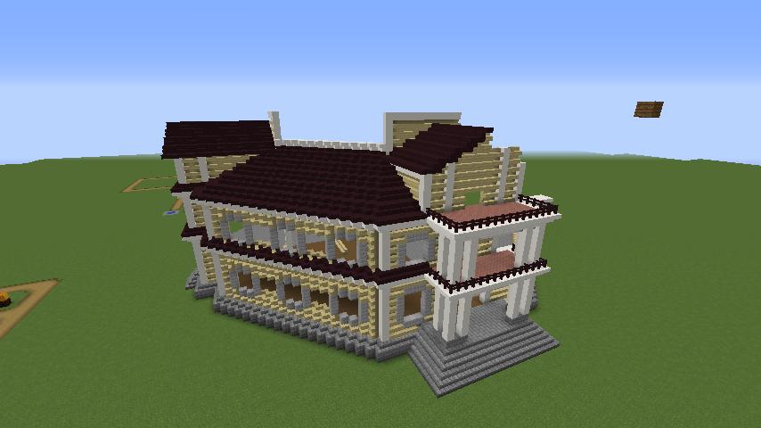 Minecrafterししゃもがマインクラフトでぷっこ村にみくに龍翔館をモデルにした村役場を建築する4
